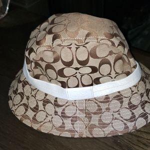 New Coach Tattersall Signature C Bucket Hat